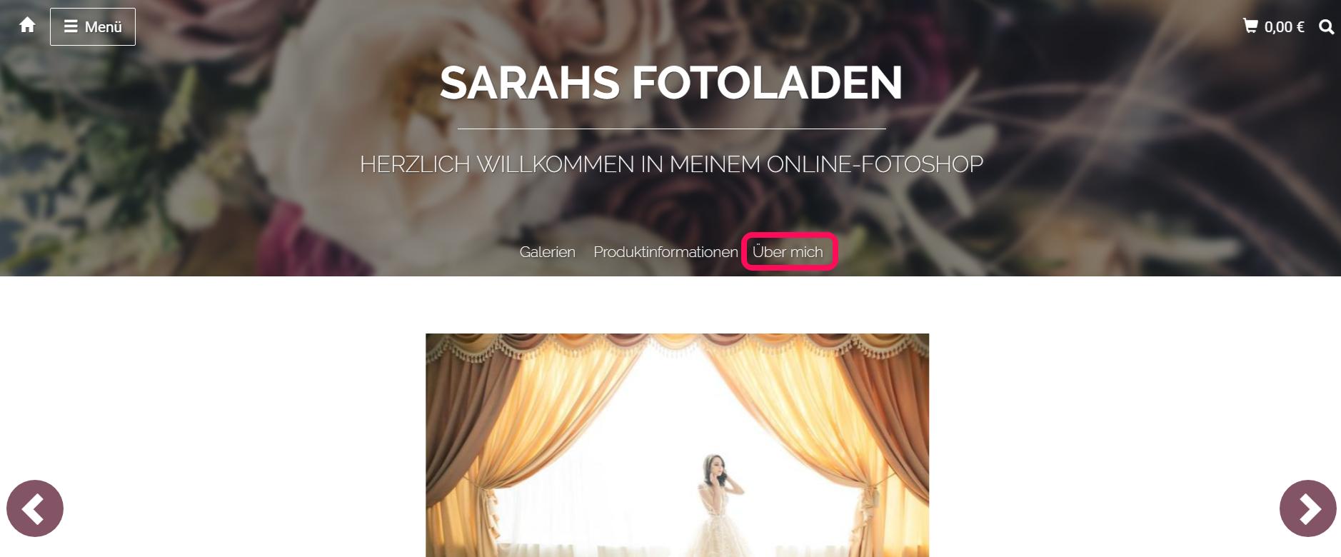Vorstellung Ihrer Person auf der eigenen Fotografenwebsite
