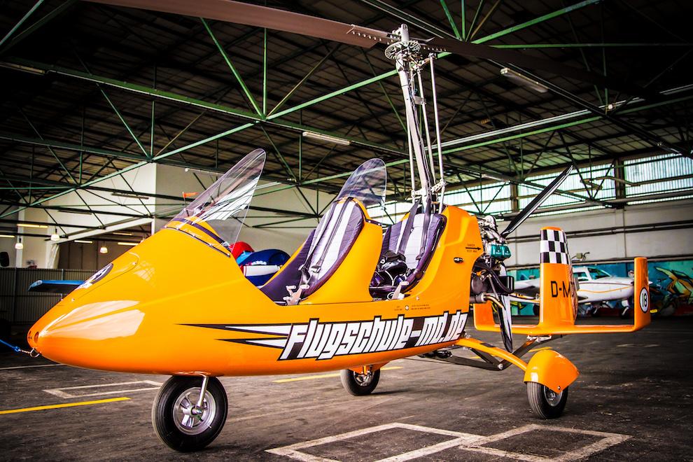Gyrokopter der Flugschule Magdeburg