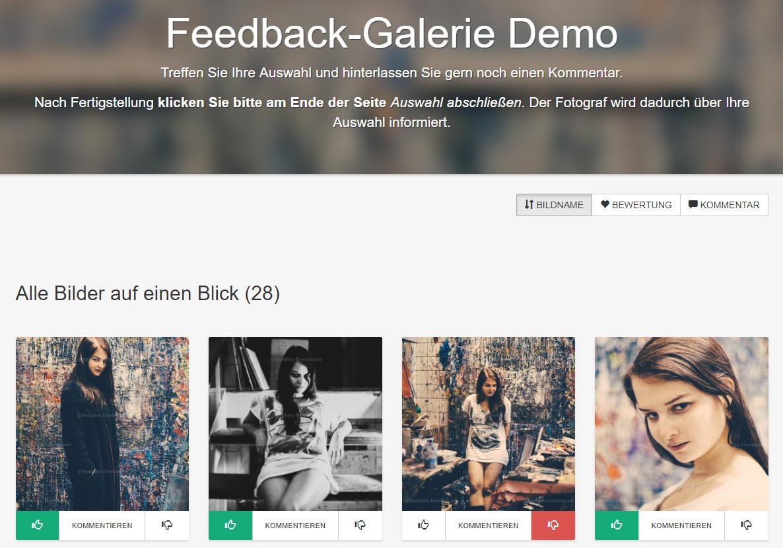 Feedback-Galerie Demo